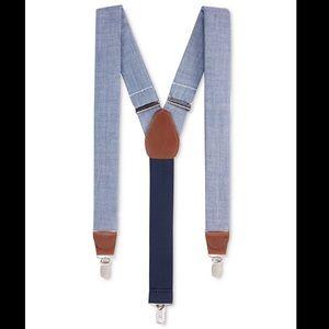 NWT Club Room Chambray Suspenders